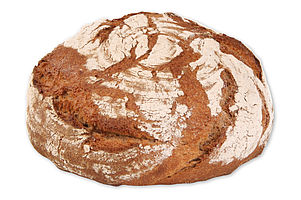 Par-baked organic rye mix bread with a crunchy crust and a soft crumb.