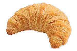 Pre-proved French butter croissant.