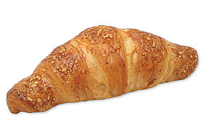 Pre-proved butter croissant filled with ham and cheese.