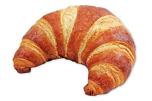 Pre-proved Lye butter croissant with a golden crust and a soft crumb.