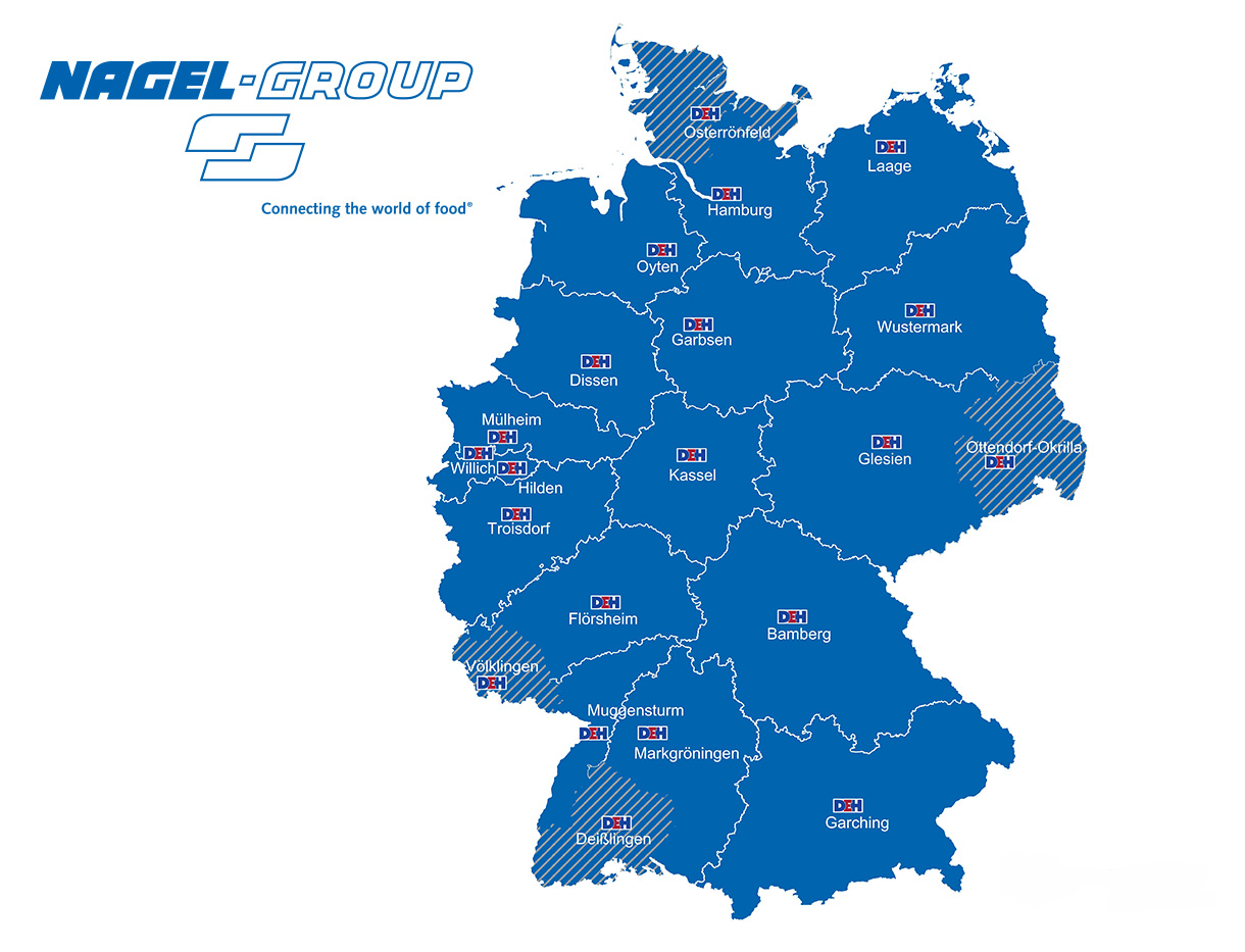 Locations of the Nagel-Group in Germany.